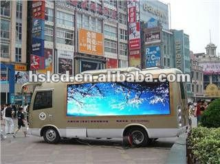 Truck Mobile Screen Display LED Billboard For Ads