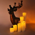 Gilttering LED artificial paraffin candles simulated flame led candle