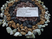 natural decorative river stone pebbles for paving in garden