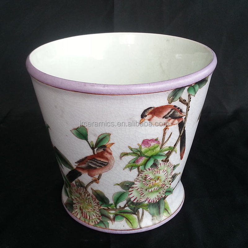 Chinese Hand Painted ceramic Pot Plant