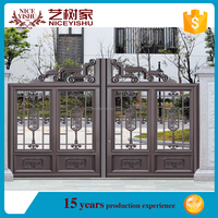 2016 new and low price aluminium gate /garden design used aluminium fence for sale