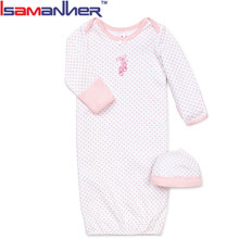 Bulk newborn baby girl sleepers 100% cotton pictures for children gown