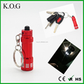 Micro keychain 3-led aluminum flashlight,Mini LED Keychain Flashlight