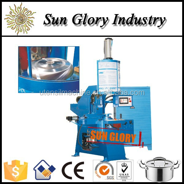 New product aluminum pot ware edge lathing machine