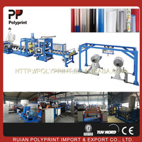 Non-stop production plastic sheet extrusion