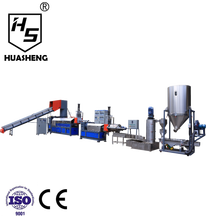 Waste plastic PE recycling machine line