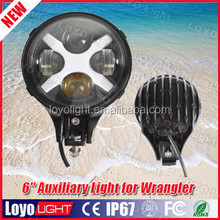 "New 6"" Round 60W Led Auxiliary Light for Jeep wrangler"