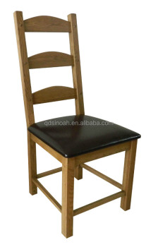PU SEAT slats CHAIR Solid oak Chair Dinning chair