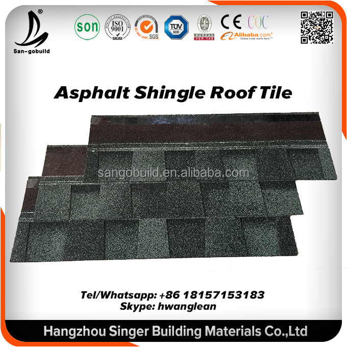 Affordable building material Roofing tile, Cheap 3 tab asphalt roofing shingle roof sale low price