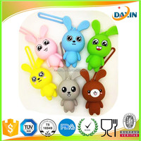 Hot sale fashion rabbit silicone key bag/rabbit silicone key wallets