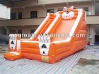 custom design inflatable slide with tiger characters G4106