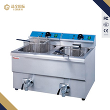 Electric 2-tank fryer fish and chips fryers