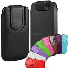Magnetic PU Leather Pull Tab Flip Case Cover Pouch for iphone 5 5s