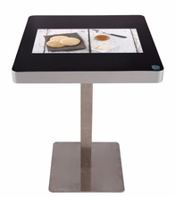 EKAA 21.5inch Waterproof lcd coffee restaurant table glass capacitive multimedia touch screen table