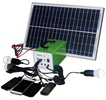 XD-T107 cheap price 10W 7AH off grid portable home use solar kits for lighting system also have 20W 30W panel
