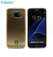 2016 New Design Electroplating Dot View Soft Flexible TPU Phone Case For Samsung Galaxy S7