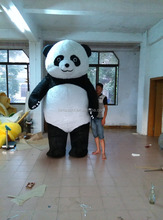 HI CE certificate hot sale panda mascot costume adult professional costume 3m giant inflatable panda