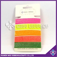 Colorful Glitter Elastic Hair Ties Set Covered Long Elastic Hair Bands