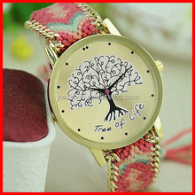 Made In China Hot Selling Chinese National Wind Fashion Watch Adjustable Cotton Rope Bracelet Watch