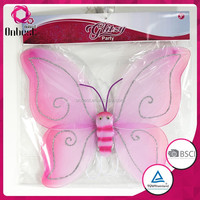 Gifts & Crafts angel wings for sale party decoration top quality pink pattern butterfly fairy wing