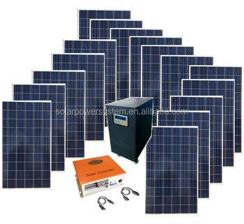 BUSTSUN BPS-15000W full power solar panel /inverter/controller complete on grid off grid 15kw home solar system