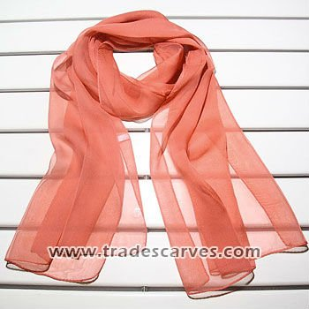2015 Most Popular Women's Orange Silk Lady Scarf