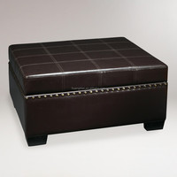 good quality black PU leather long Storage Ottoman bench seating