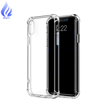 Factory Wholesale 4 cornes shockproof Transparent Tpu PC Shell Anti Shock Cell Phone Case For iPhone X Case