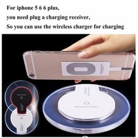 Wireless charger receptor for iphone 6plus qi standard quick wireless charger receiver super ultra thin wireless receiver hot