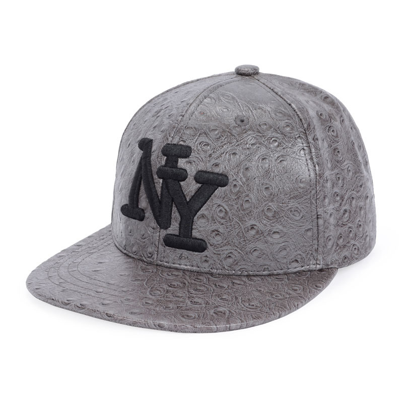 9133532347c New Brand Street Dance Snapback Hip Hop Caps NY Embroidery Black White  Leather Gorras Snap Back