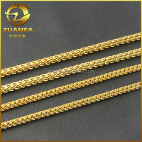 3mm Franco Chain 24 30 36 Inch 14k Finish Gold Hip Hop Necklace