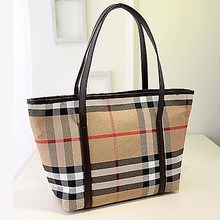 Famous band name handbag grid bag women tote bag cheap price from alibaba SY6344