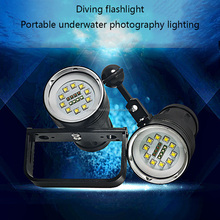 HOT Wholesale High Quality Waterproof LED Diving Flashlight 10 CREE LED Underwater Lighting IP68 10000 lumen