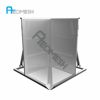 AEOMESH manufacturer of aluminum concert crowd control barrier