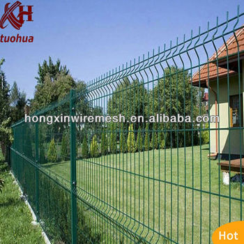 factory pvc coated wire mesh fence
