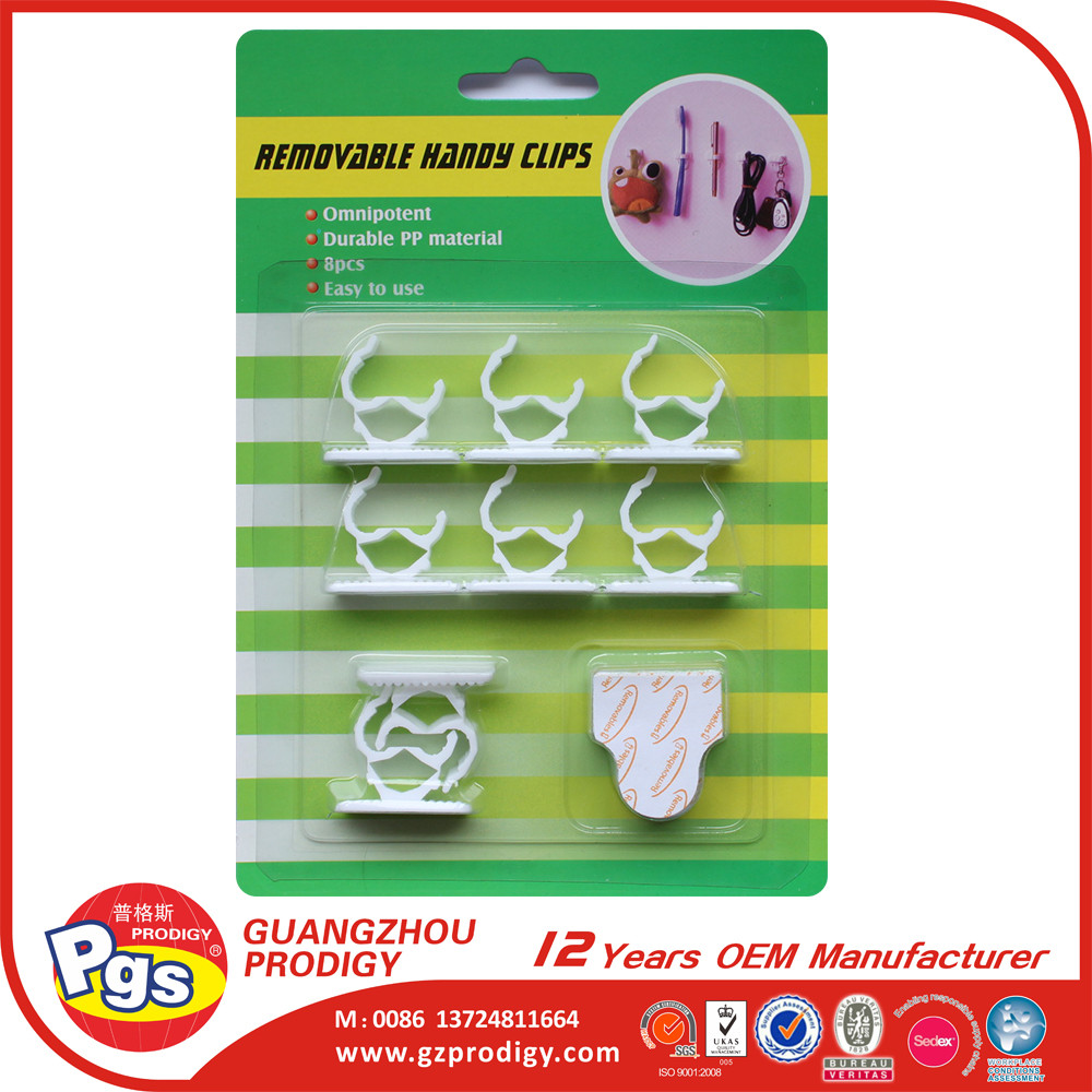 Plastic Self adhesive plastic cable clamp cable hook