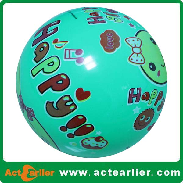 8.5 inch full print plastic ball toy for kids