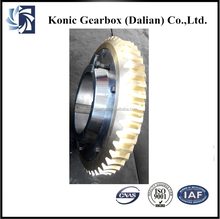 Forging cement ball mill parts alloy wheel worm gear