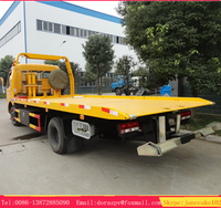 New dongfeng 6 wheel china 3 ton wrecker towing truck