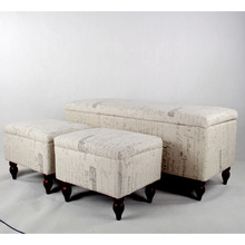 Large Tufted Indoor Ottoman Storage Bench For Living Room