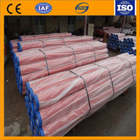 china supplier.6m concrete pump wear resistant electrostatic induction hardened pipe with two wall collar.