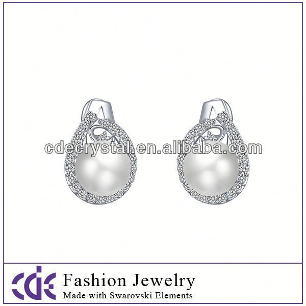 Wholesale 2013 silver earrings designs for girls