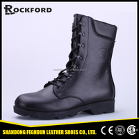 Casting area split action leather black work boots FD6314