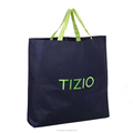 Custom wholesale non woven shopping tote bag with reinforced handles