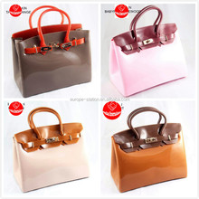two colors matched jelly PVC hot same bags new MOQ30pcs per color