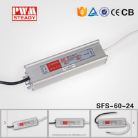 constant voltage power supply switching 60w 24vdc 220v 50hz 110v 60hz waterproof IP67 led driver