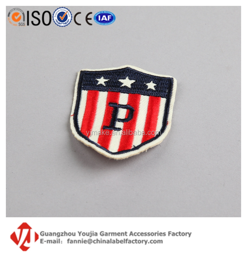 Embroidered Brand Logo Sew On/Iron On Patches Stripe Emblem