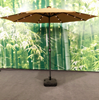 2016 New Design Cheapest 3.0m Solar Garden Patio Umbrella With Led Light And Two USB