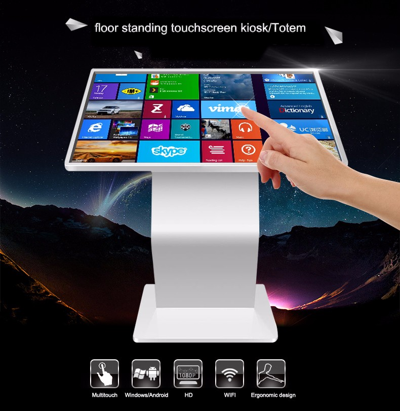 47 Inch  Free Stand HD Motion Sensor Digital Signage Monitor, Lcd Advertising Kiosk.jpg