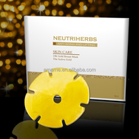 Private label Breast lifting 24K Gold Collagen crystal most beautiful breast mask for women Breast enlargement